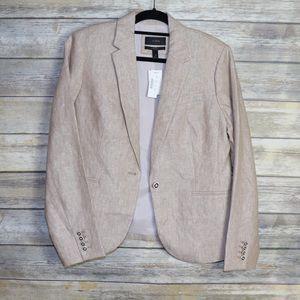 J. Crew Linen Blazer Size 12 NWT Khaki